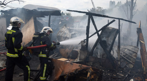 Blaze ravages another Roma camp in France