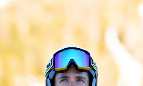 French skiers don high-tech ski goggles