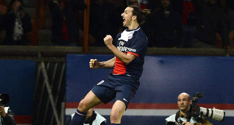 Ibrahimovic bags double as PSG march on