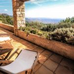 Check this view out. This terrace affords views across the valley to include Grasse, Cabris and the Mediterranean. It's not a bad place to pass the warm evenings in summer.Photo: Leggett