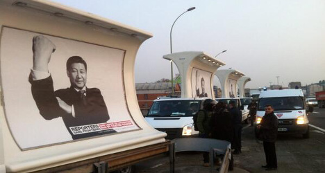 Xi Jinping 'up yours' stunt foiled by police