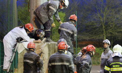 French boy, 8, trapped in concrete block for hours