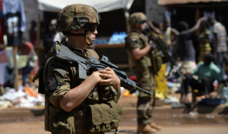 French troops ambushed in CAF town