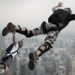 Paris: Base jumpers take to City of Light's heights