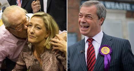 Le Pen and UKIP in spat over Euro elections snub