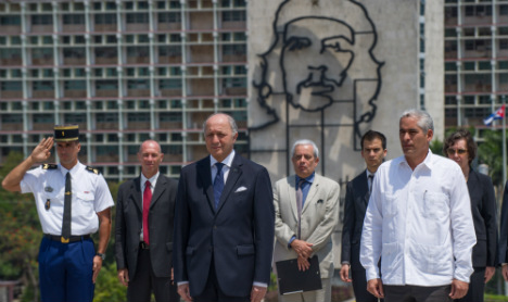 French FM in Cuba for the first time in 30 years