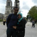 """""""I think that it is fair to say that Parisians can be rude to tourists, but that does not correspond to everyone. I think that they should be nicer to the tourists. Today we have experienced both very rude and very friendly people. This city is very beautiful, but overall the stereotype about Parisians is true,"""" says Rahid Abdul from Durban, South Africa, pictured here with Raeesah Abdul. Photo: Anna-Sarah Eriksson"""