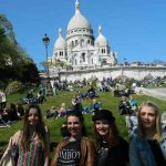 """""""Parisians are overall nice, but can also be pretty rude. They are not worse here than at any other place. However at the hotel where I am staying here in Paris a man was screaming at me because I was singing. That was pretty rude,"""" says Emme Knuten from Denmark who visiting the Sacré Coeur. Photo from left to right: Shania Bach, Emme Knuten, Natasja Quiser and Isabell Soerensen.Photo: Anna-Sarah Eriksson"""