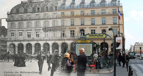 Paris photomontages blend old in with new