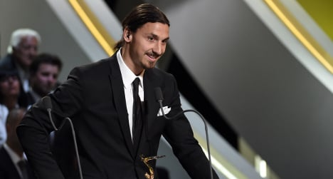Zlatan named France's player of the year