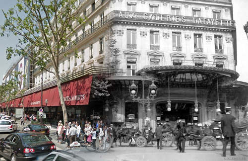 Paris photomontages blends the old in with the new