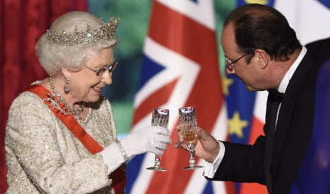 French treat for UK queen after gruelling day