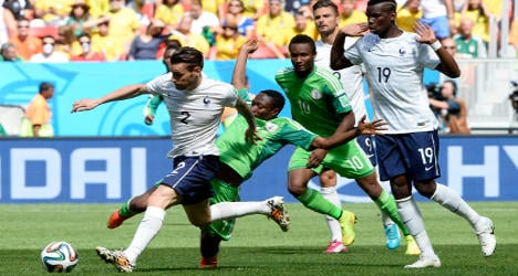 France beat Nigeria 2-0 to book place in quarters