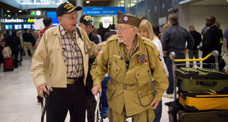 Veterans arrive in France for D-Day anniversary