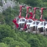 Dozens left hanging after Alps cable cars derail