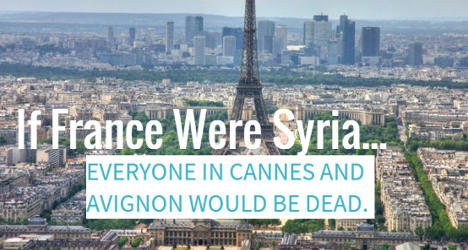 If France were Syria… 37 cities would be deserted