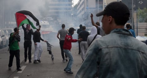 Pro-Palestinian rally near Paris ends in violence