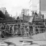 An American flag displayed on a barricade constructed on Avenue de la Porte d'Orleans, what is now today Avenue General LeclercPhoto: AFP
