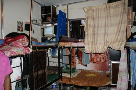 An apartment housing Nepalese migrant workers in Qatar. Photo: DPA