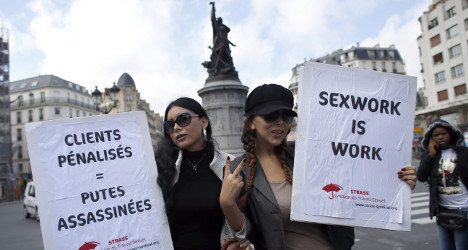 Ex-sex worker marches to demand client fines