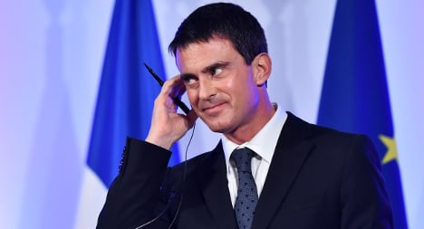 Valls takes on UK press over French caricature