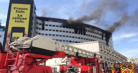 Broadcasts cut as fire ravages French radio HQ