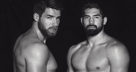 In Images: French sports hunks bare (almost) all