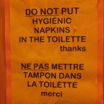 In French the word for napkin (serviette) and sanitary towel (serviette  hygiénique) are disturbingly similar. Hence the confusion.Photo: elPadawan/Flickr