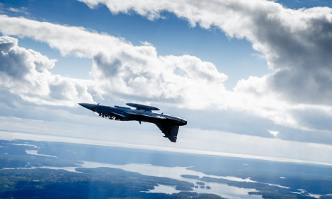 French plane spotted in Swedish airspace