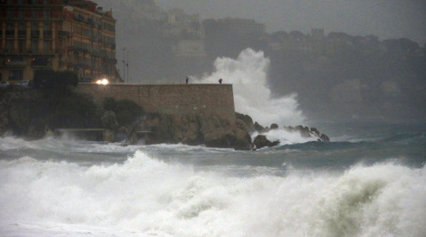 IN IMAGES: Storms lash French Riviera