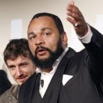 """Comedian Dieudonné M'bala M'bala, known by his stage name <b>Dieudonné</b> has received hefty fines for anti-Semitic hate speech. He also came up with a controversial hand gesture, called the """"quenelle"""". While he claims it's """"anti-establishment"""" critics view it as a disguised Nazi salute.Photo: Patrick Kovarik/AFP"""