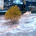 A dramatic scene again in the Ardèche region filmed by BFM TV, where the Eyrieux river, burst its banks.Photo: BFM TV