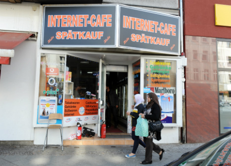 The internet cafe were Magnotta was arrested in June 2012 Photo: DPA