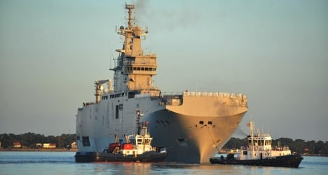 Russian Mistral warship sailors leave France