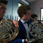 """<b>French horn</b> Based on early hunting horns, the French horn may have some roots in France but it is in fact German in origin. The International Horn Society refuses to use the misleading term """"French horn"""" and instead refers to the instrument simply as """"horn"""". Photo: Penguincakes/Flickr"""