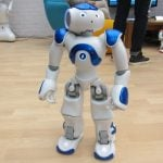 """<b>Humanoid robot:</b> The humanoid robot """"Nao"""" by French company Aldebaran is an intelligent and friendly companion according to the developpers."""