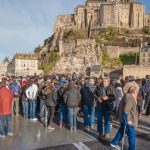 """""""All the hotels on Mont-Saint-Michel are booked full for the month of March, and we're expecting even more people than that,"""" said local merchant Emmanuel Conon, pleased at the boost in business the tidal attraction is expected to produce.Photo: <a href=""""https://www.facebook.com/anibasphotography"""">Anibas Photography</a>"""