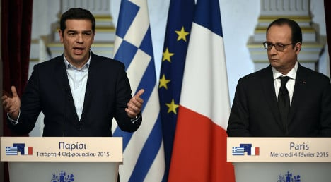 Greece has to stay in the eurozone: Hollande