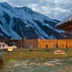 Accessible from the living room, the outside hot tub is the perfect remedy to treat you after a day out skiing. And of course, it offers an amazing view on the Alps. Photo: Leggett