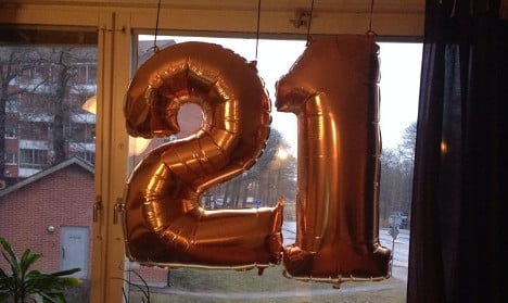 The suspicious birthday balloons in Sweden. Photo: Private
