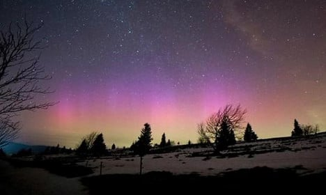 France treated to rare Northern Lights show