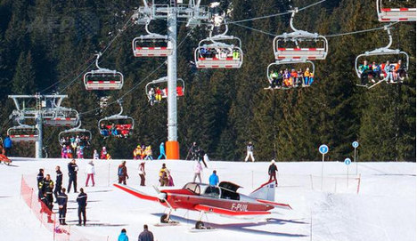 Skier hit by a plane on piste in French Alps