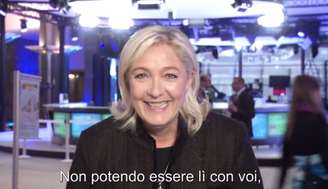 Le Pen red faced after backing 'neo-fascist rally'