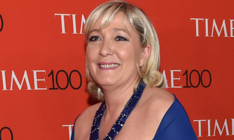 New York rolls out red carpet for Marine Le Pen