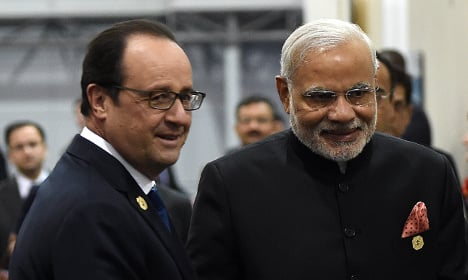 India's Modi heads to France to talk jets