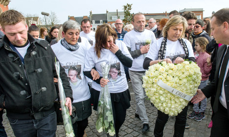 Mourners march for murdered French girl