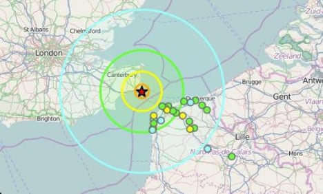 Homes in northern France shaken by quake