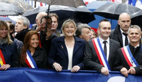 Le Pen's big day ruined by Femen and her father