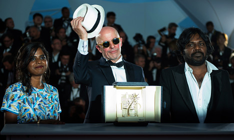 French refugee thriller wins Cannes Palme d'Or
