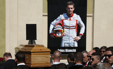 F1 pays final respects to French driver Bianchi